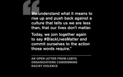 The Alliance Joins Statement with 500 LGBTQ Organizations Supporting #BlackLivesMatter